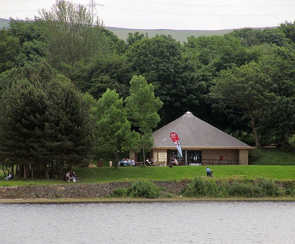 Royd Ices cafe located by a lake