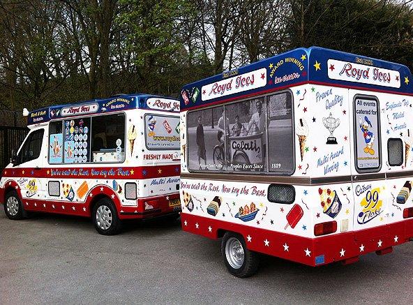 Royd Ices' ice cream van and trailer