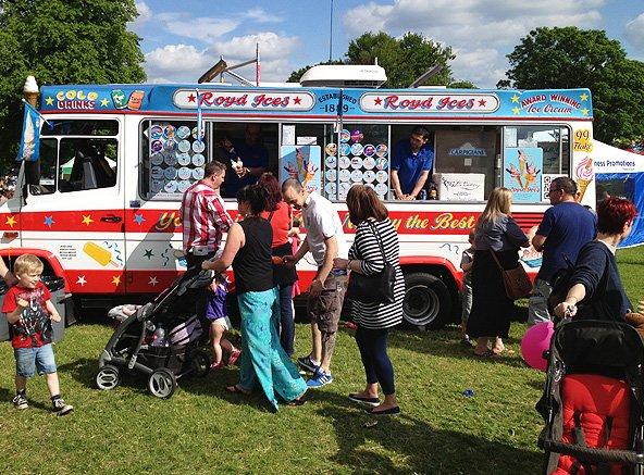 Large ice cream van
