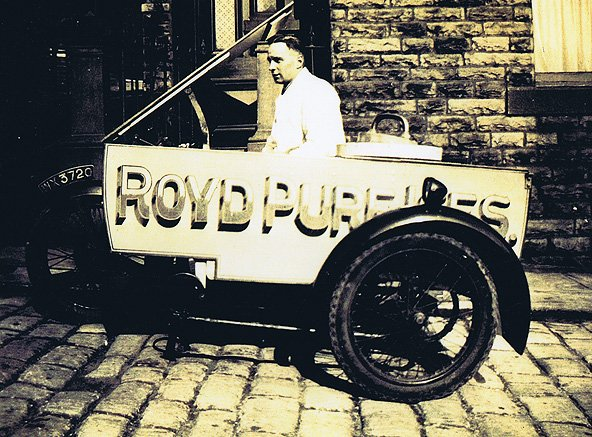 Old fashioned trike used by Royd Ices in the early 1900's