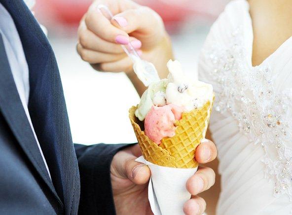 Wedding ice cream