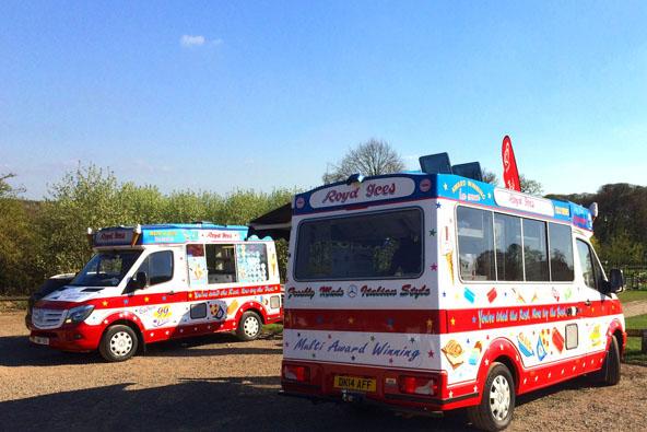 2 ice cream vans
