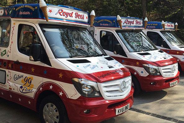 Fleet of Royd Ices' vans