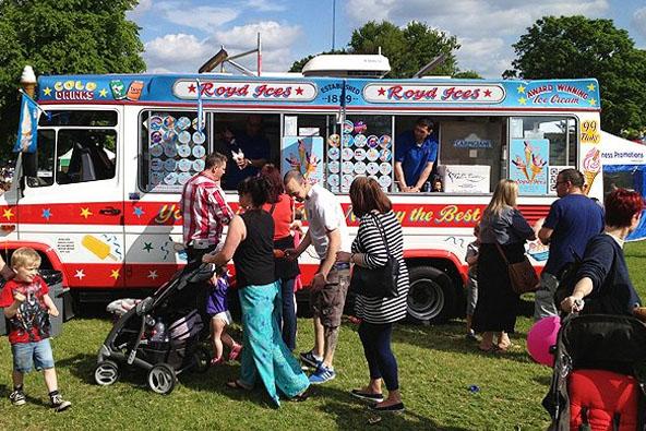 Double ice cream van