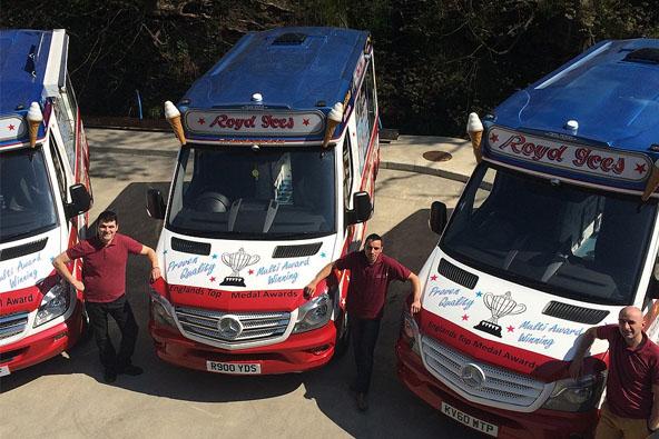 Fleet of ice cream vans