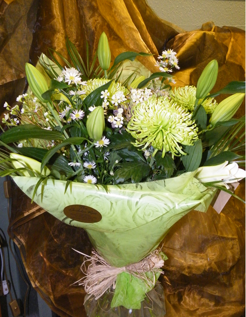 Round handtied inc lilies