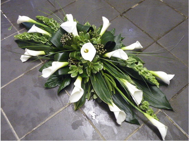 Spray of calla lilies