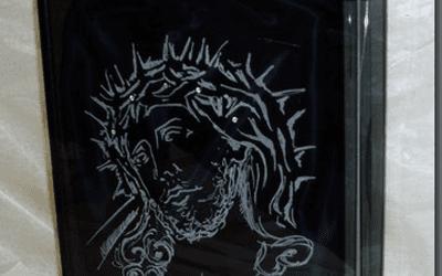 Urna cineraria in cristallo