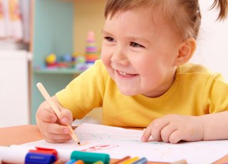 little boy colouring pictures