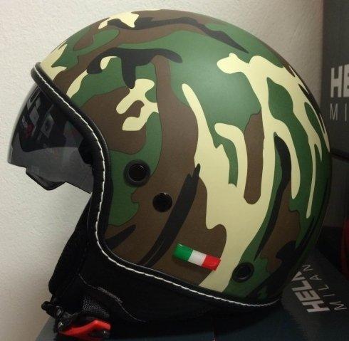 casco jet mimetico helmo milano