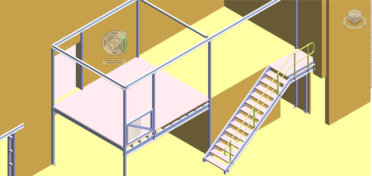 Interior design of the room by with staircase