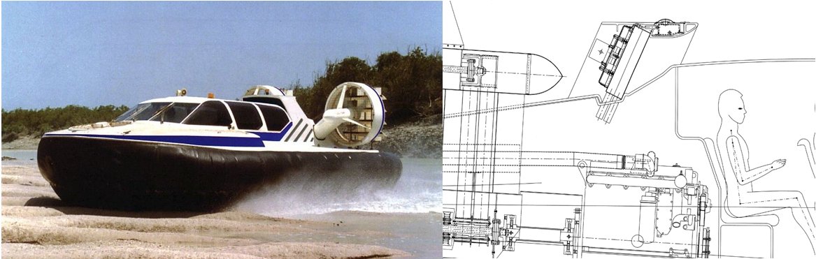 View of the design and final product of hovercraft