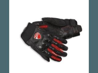 guanti tessuto pelle