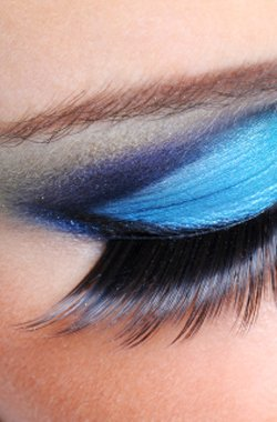 Close up eye makeup