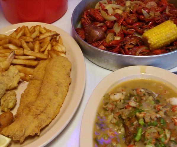 catfish and  gumbo