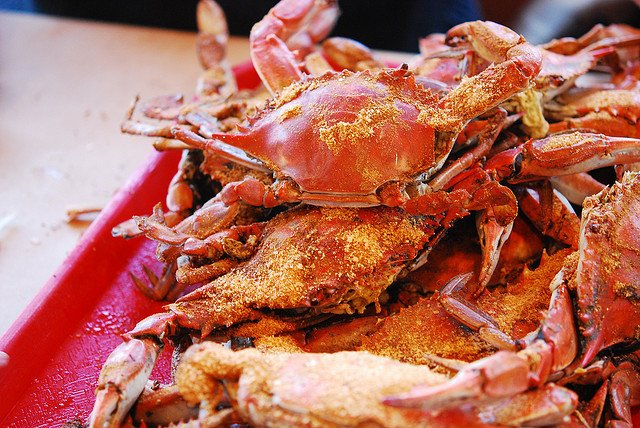 plate of blue crab
