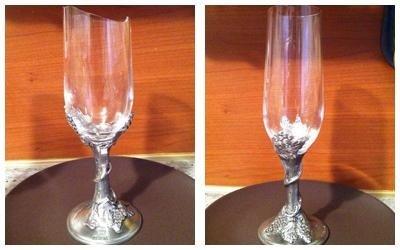 riparazione bicchiere