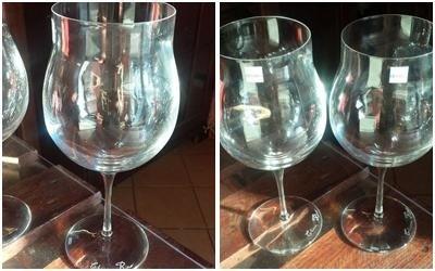 bicchieri con incisioni