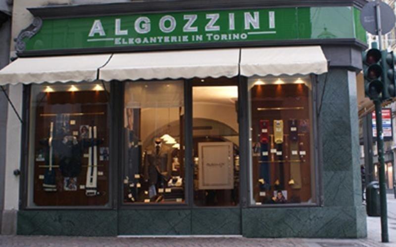 veduta dall`esterno del negozio Algozzini