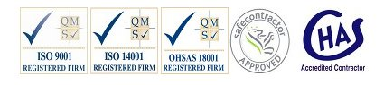 CHAS safecontractorapproved ISO logos
