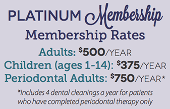 StarBrite Dental Platinum Membership Rates Chart