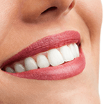 close up of woman white teeth smile