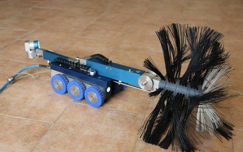 robot per pulizia canali dell