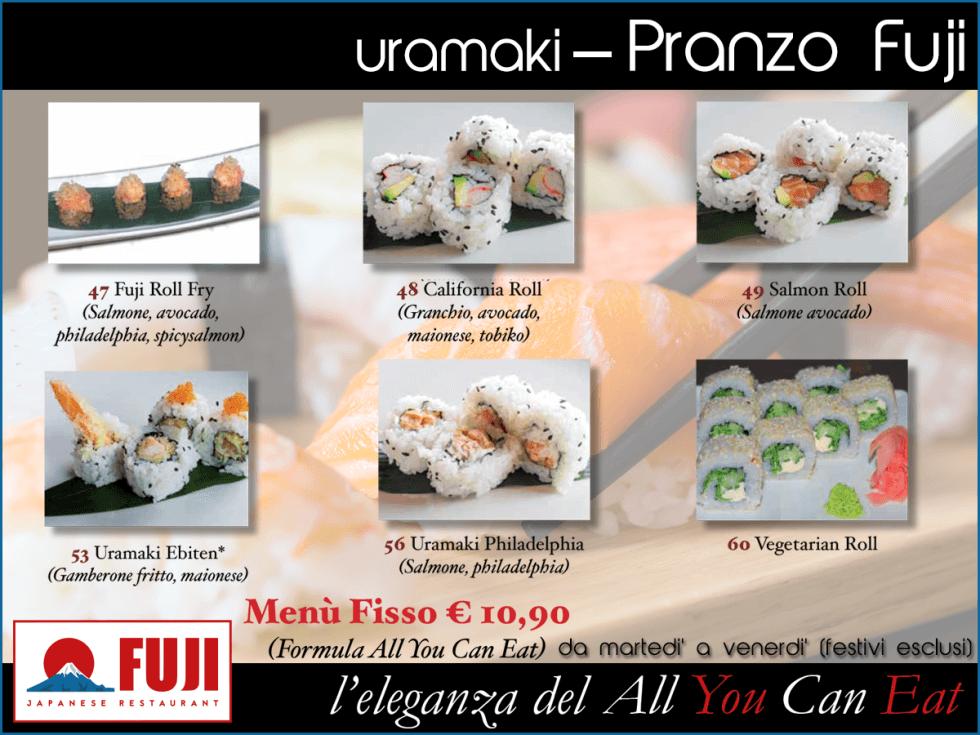 menù pranzo sushi