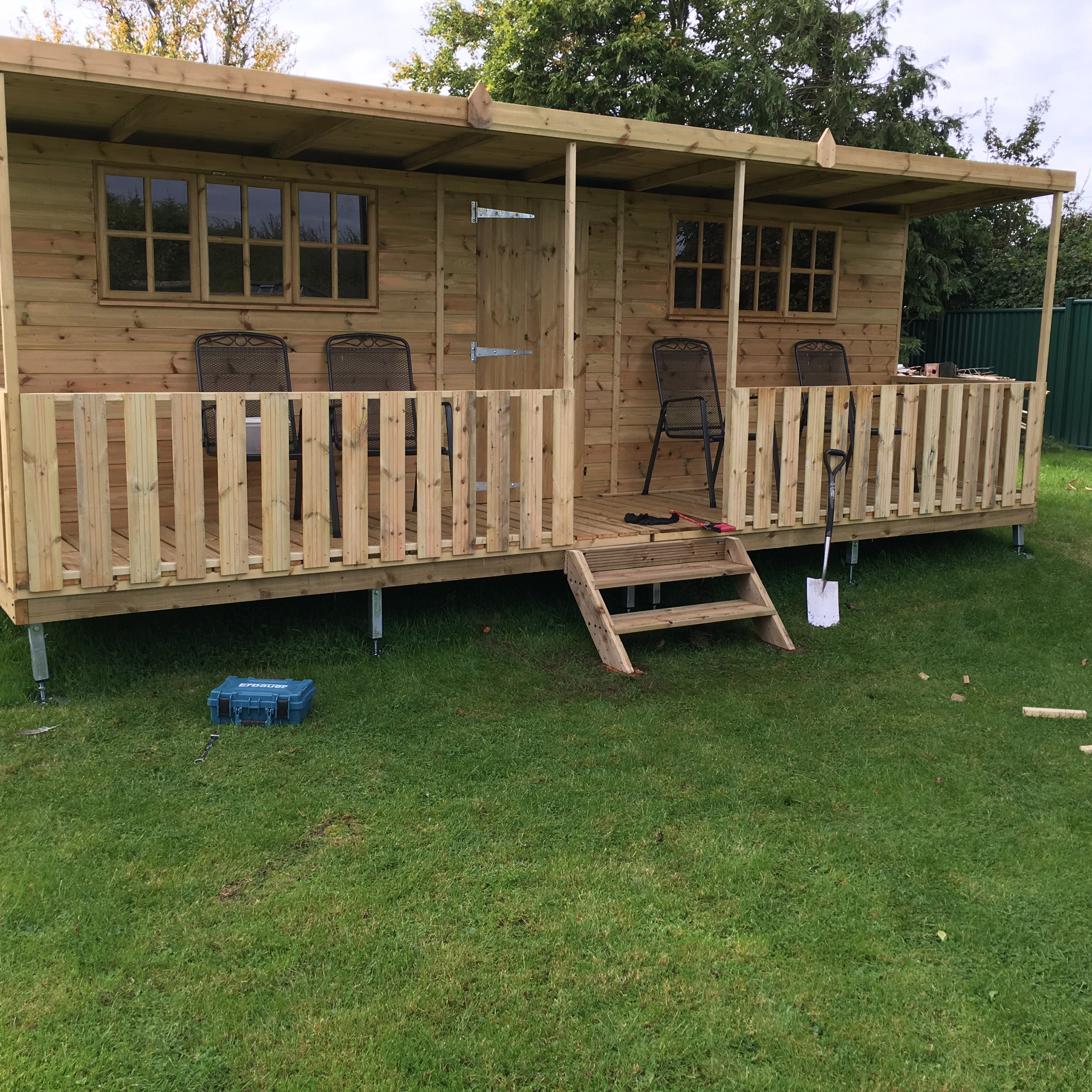 bespoke garden shed installed on deckbed - Garden Sheds With Veranda