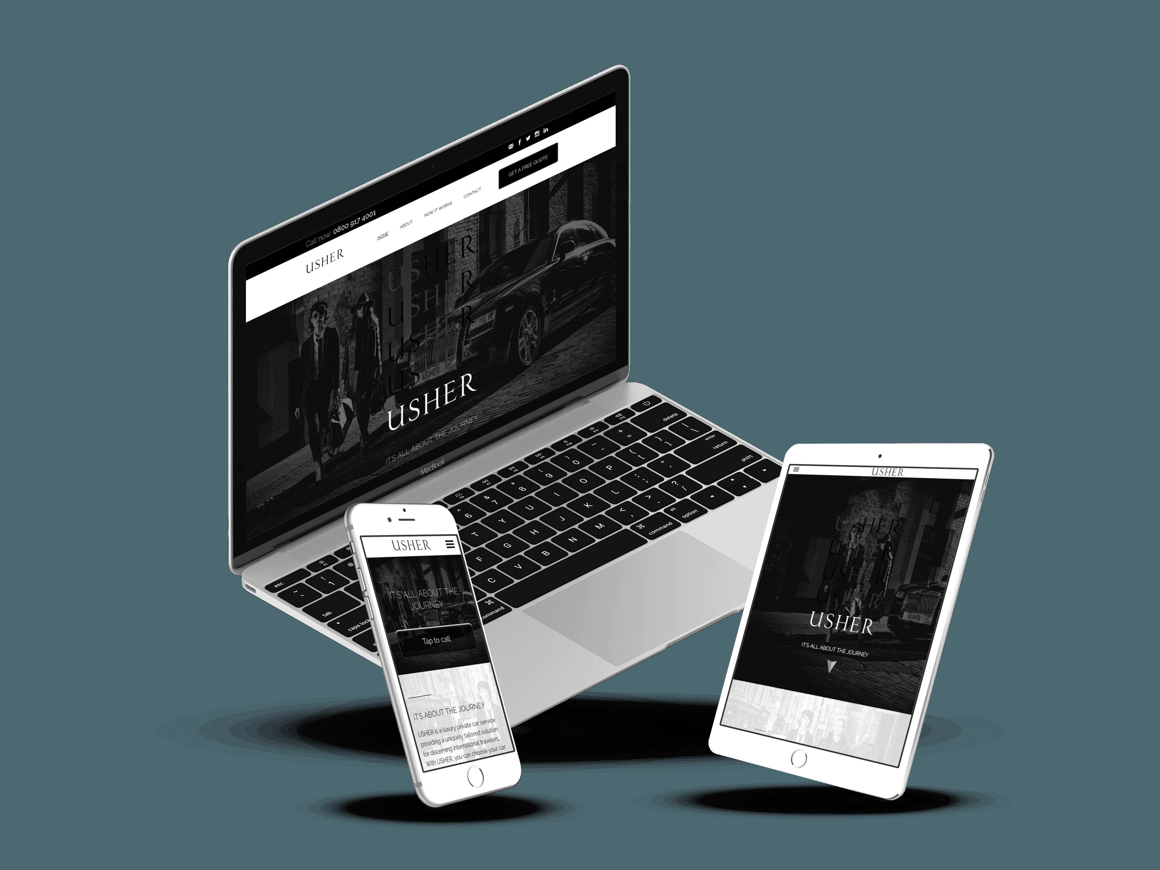 Usher website design
