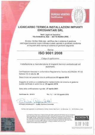 ISO 9001:2008 - Bureau Veritas Certification
