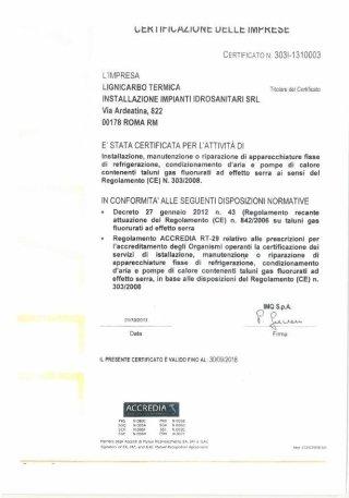 Certificato delle imprese