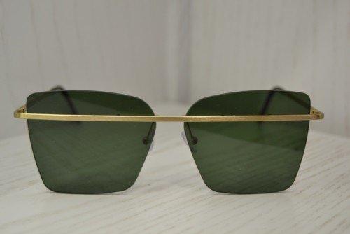 occhiali da sole squadrati lenti verdi