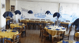servizio bar, antipasti di mare, pesce al forno