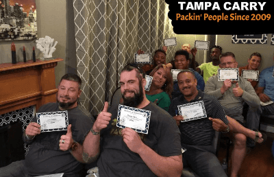 Tampa Carry Logo Guy Thumbs Up