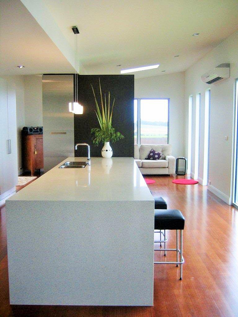 red-floored kitchen