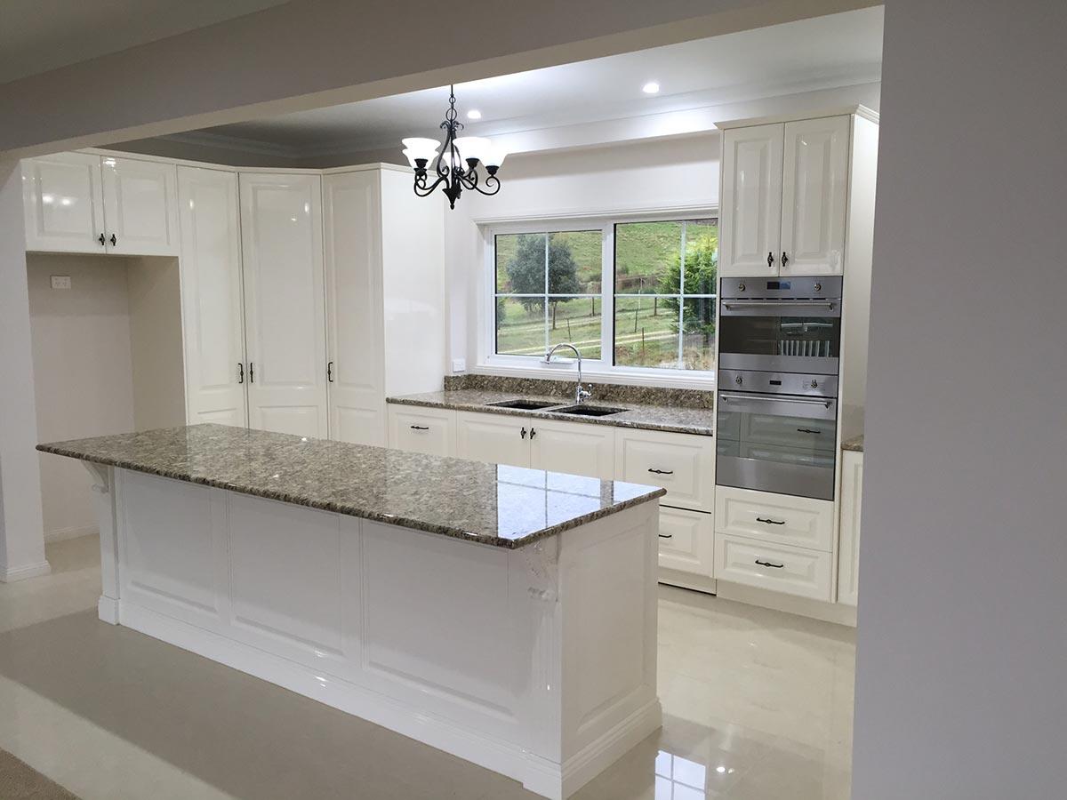 white kitchen alternate view