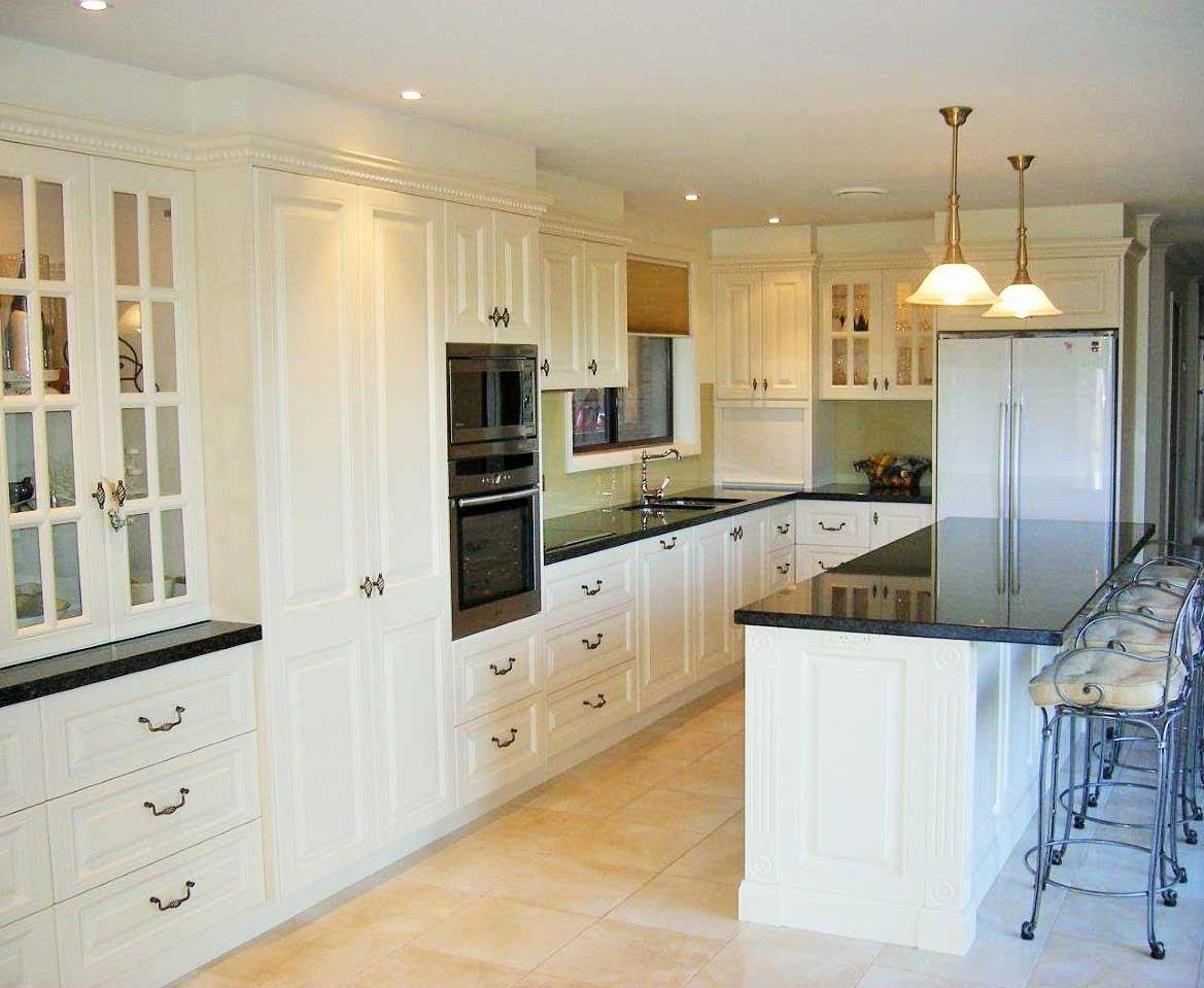long view of warm kitchen alternate view