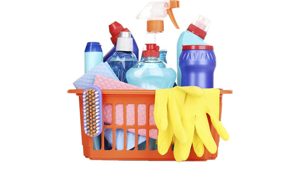 Cleaning supplies used for office cleaning in Adelaide
