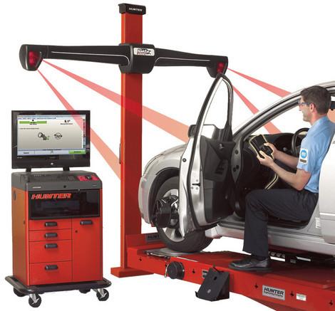 image d'une machine d'alignement des roues