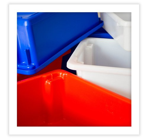 acrilix plastics storage bins