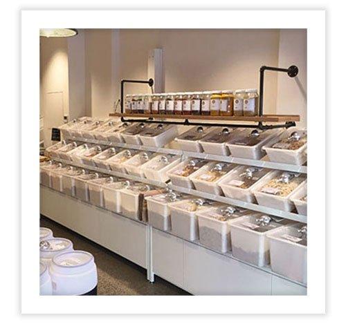 acrilix plastics bulk food storage bins