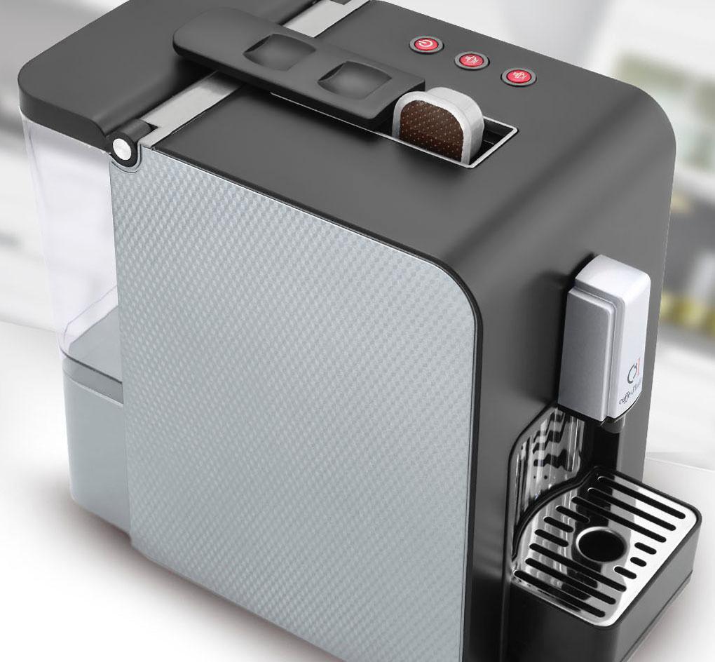 macchina caffè casa CHIKKO colori nero-silver