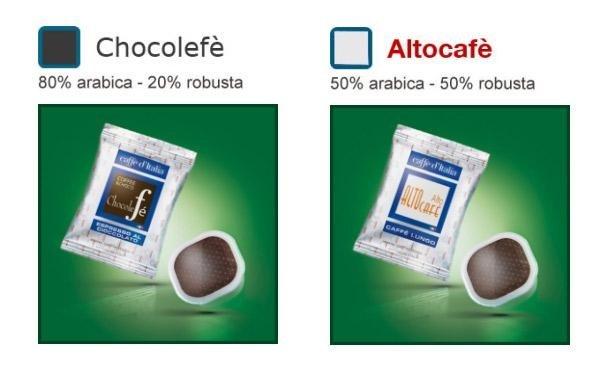 confezioni DI CHOCOLEFE E ALTOCAFE