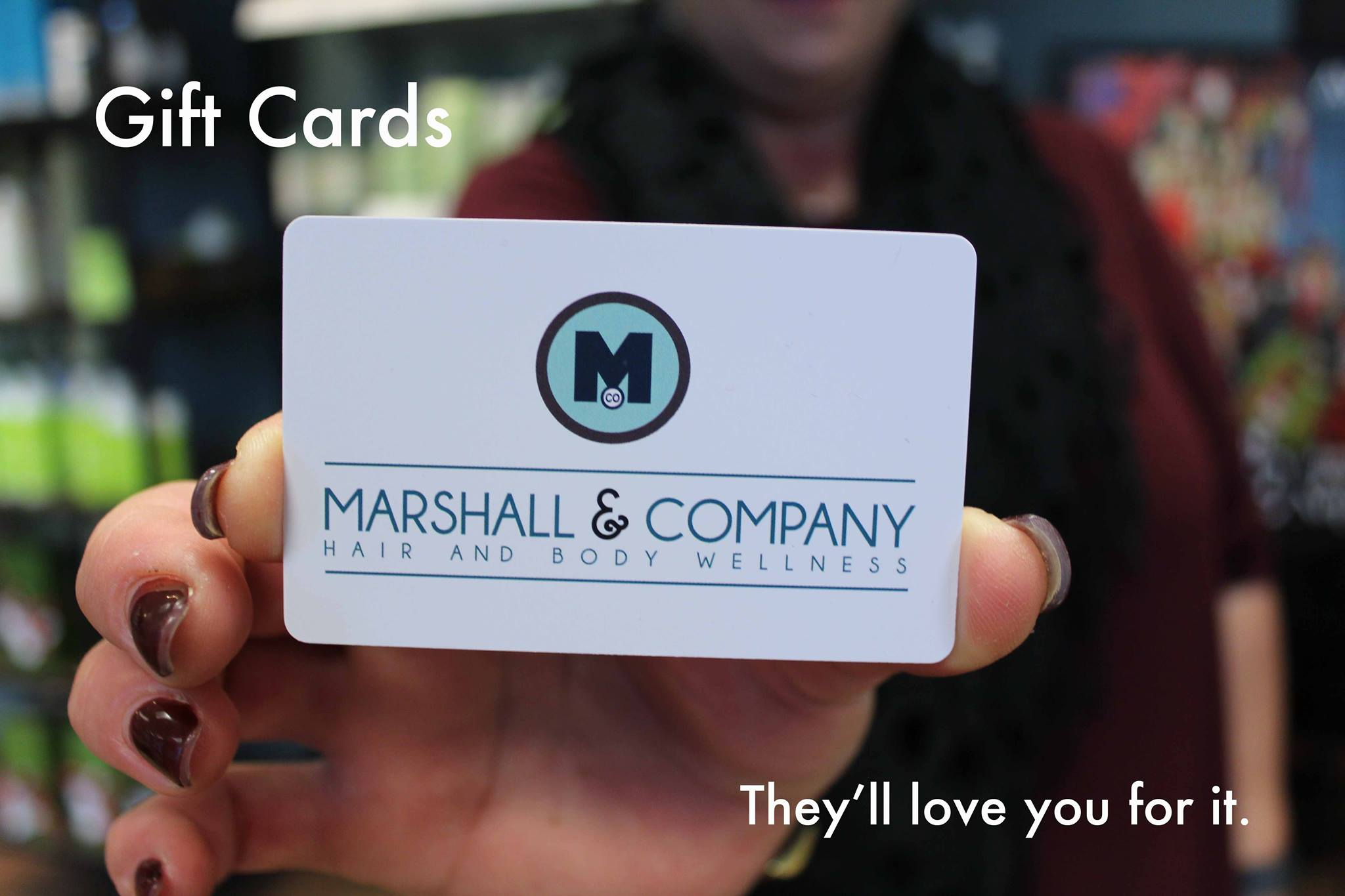 Marshall and Company Salon gift cards