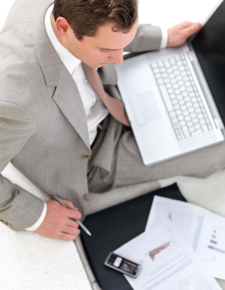 Businessman back to work after onsite computer service in High Point, NC