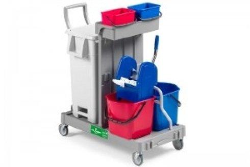 carrello pulizie con cassetti