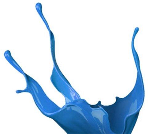 blue paint splash