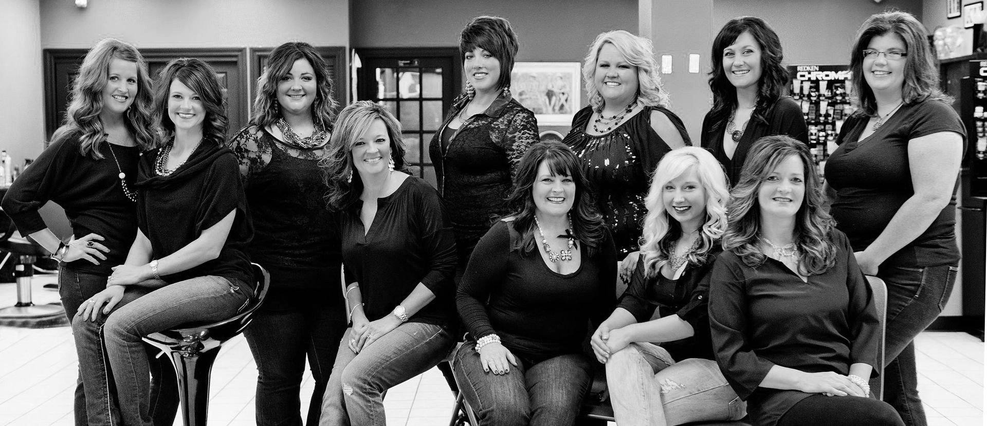 The staff at Headshop Family Haircare