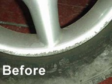 Before alloy wheel refurbishment